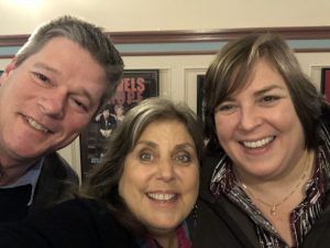 Al Bond (Avalon Foundation), MIndie Burgoyne and Joanie Madden at the Avalon Theater in Easton, MD