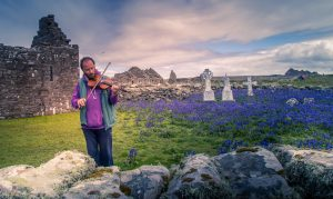 Martin Byrne Plays Fiddle at Inishmurray